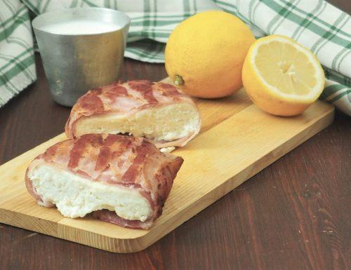 Paneer avvolto nel bacon