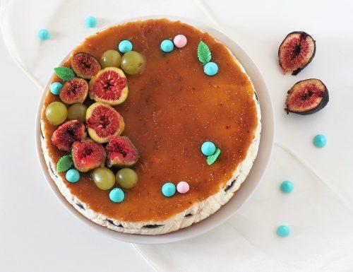 Cheesecake ai fichi senza panna