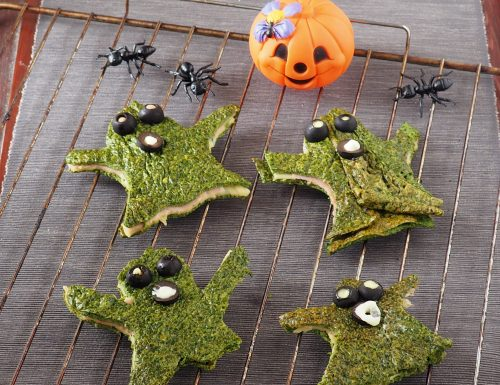 Fantasmini di frittata di spinaci (Halloween)