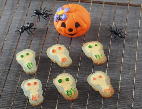 Biscotti bicolore a teschio (Halloween)