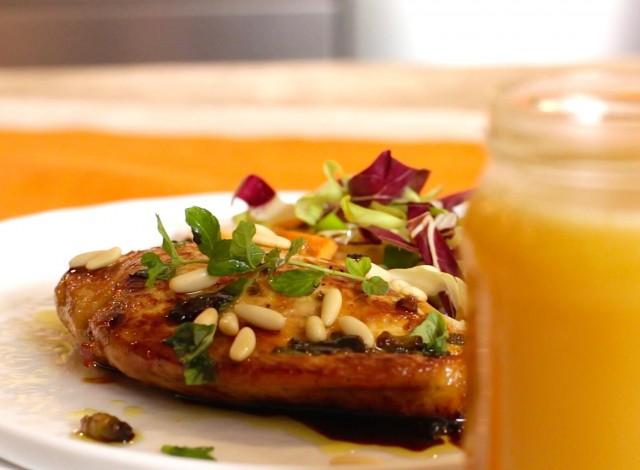 Pollo al miele di coriandolo e aceto balsamico