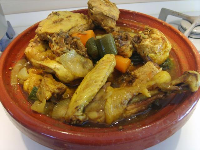 5pollo al curry e verdure in tajin