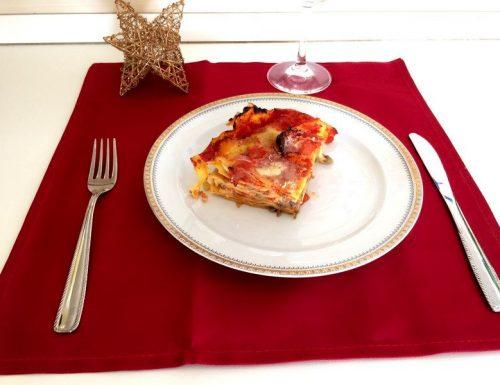 Lasagne con champignon, prepariamole per Natale