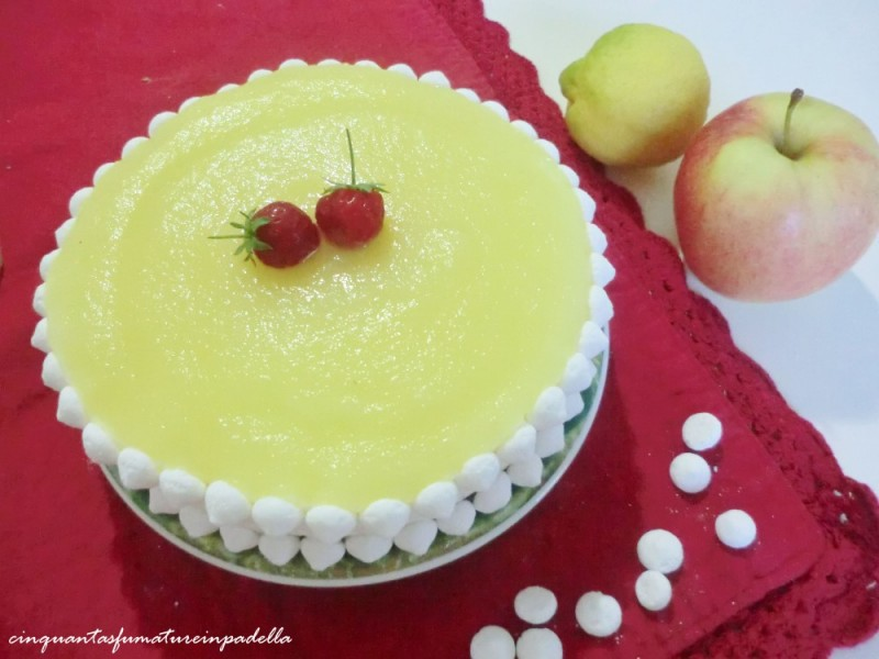 torta semifreddo mela e limone
