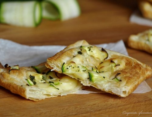 Sfogliatine zucchine e formaggio
