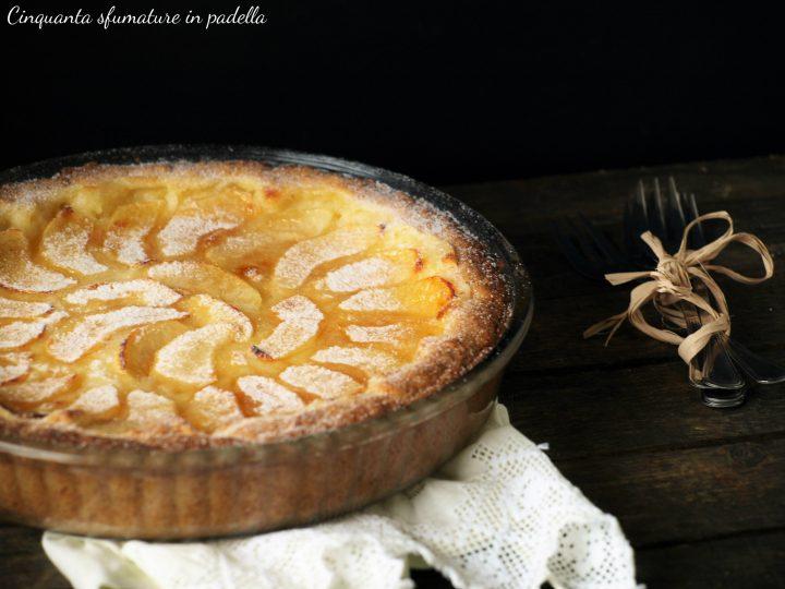 torta di mele e crema chantilly