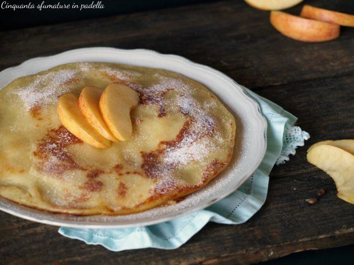 torta di mele e patate in padella