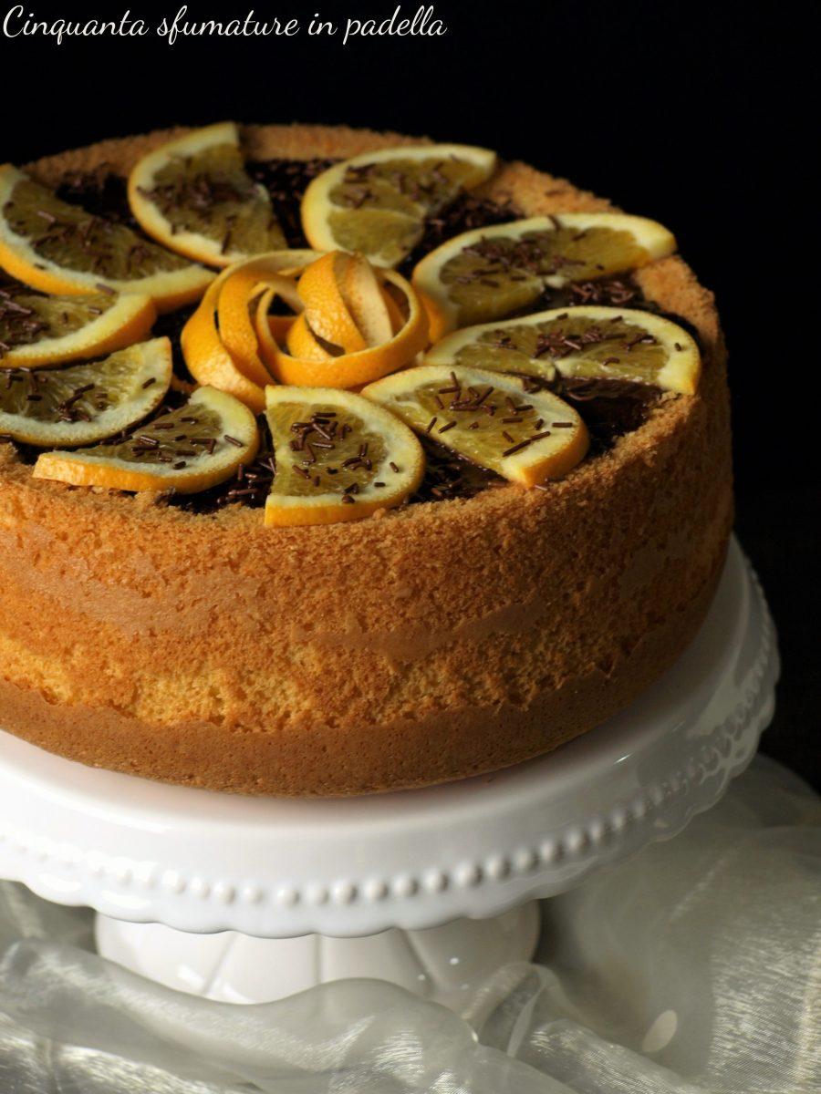 chiffon cake arance e cioccolato