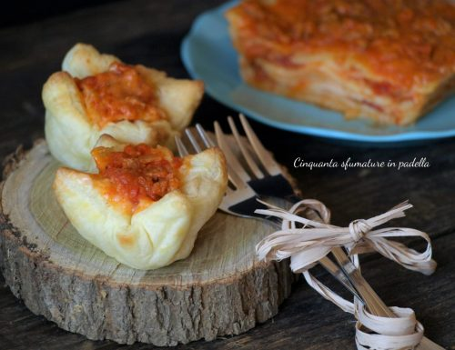 Cestini di lasagne vegane