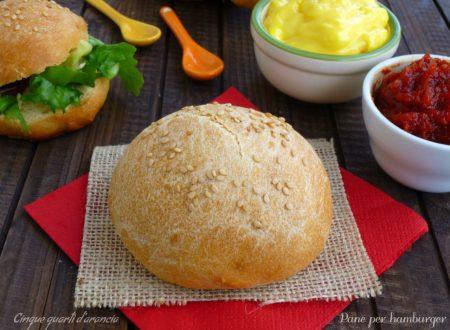 Panini per hamburger (con pasta madre)