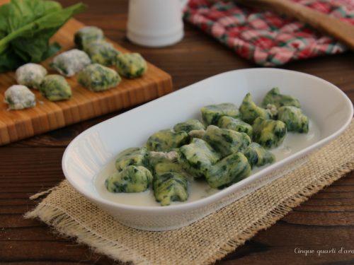 Gnocchi verdi al gorgonzola
