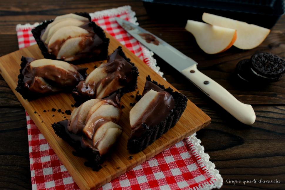 Crostata pere e cioccolato (dolce senza cottura)