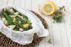 Cartoccio tacchino e asparagi