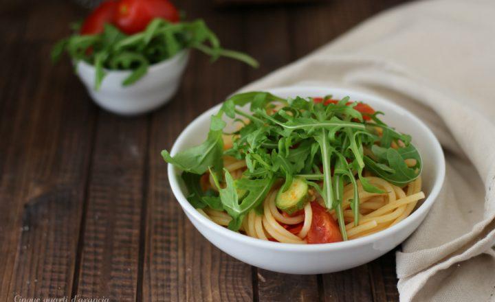 Spaghetti rucola e zucchine