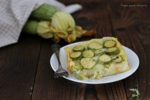 Pasticcio di zucchine patate e asiago