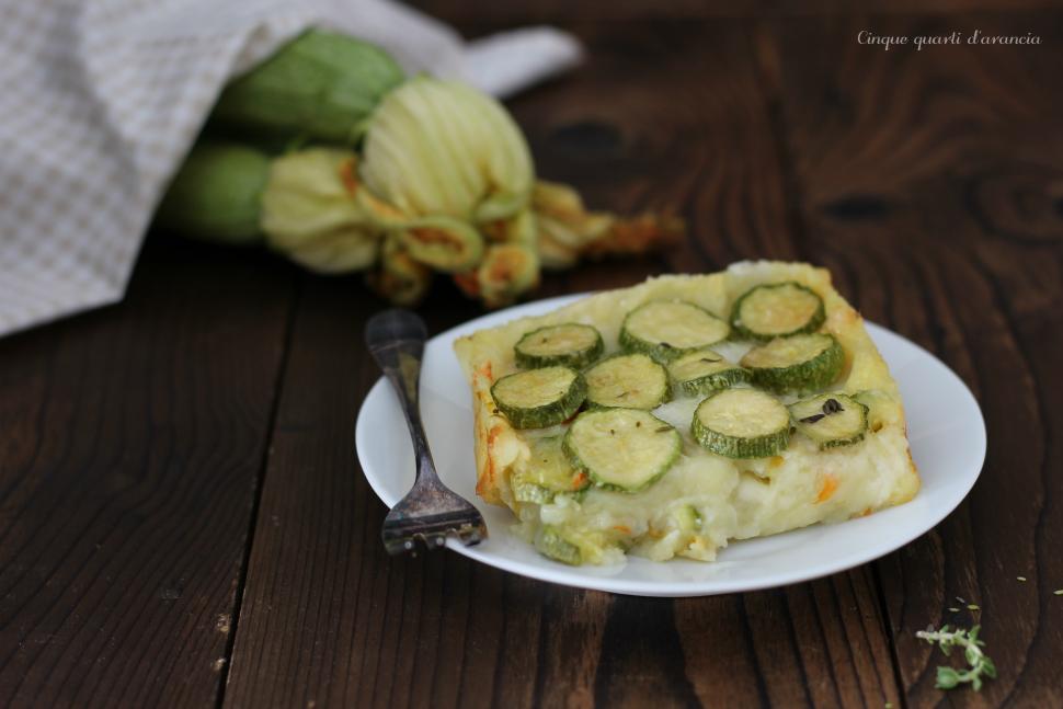 pasticcio di patate zucchine e asiago
