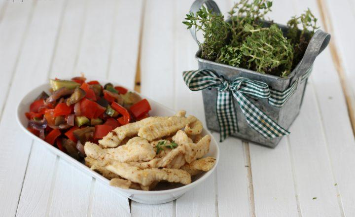 Straccetti di tacchino con verdure