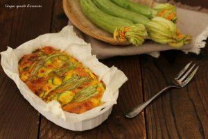 Frittata di zucchine al forno