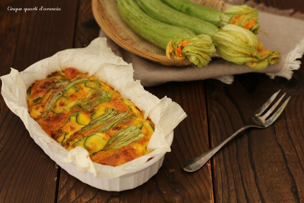frittata zucchine e scamorza