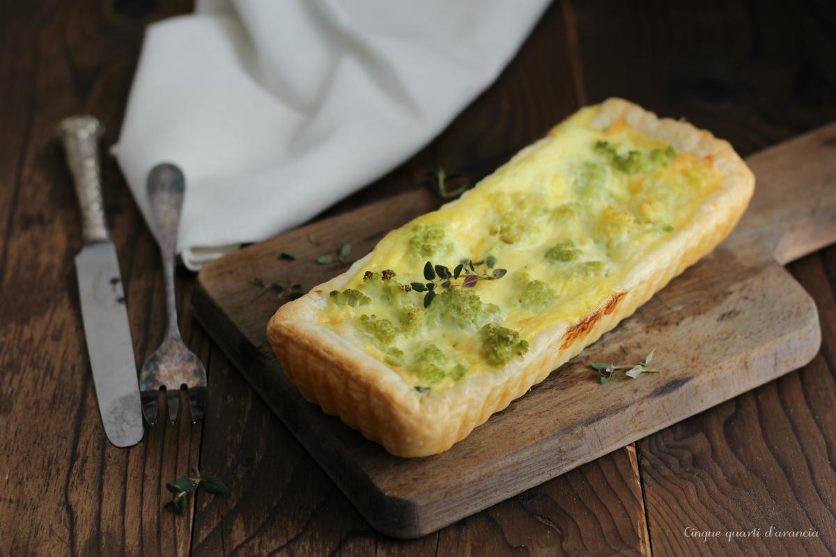 Torta salata cavolfiore e mozzarella