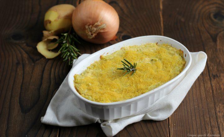 Sformato di patate e cipolle