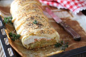 Strudel salmone e patate