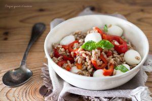 Insalata di farro peperoni e mozzarella