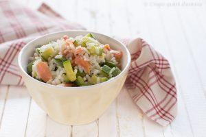Riso freddo salmone e zucchine