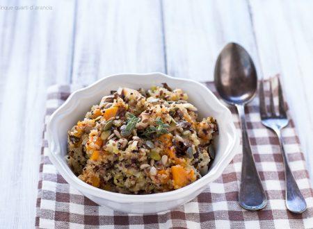 Quinoa con radicchio e zucca