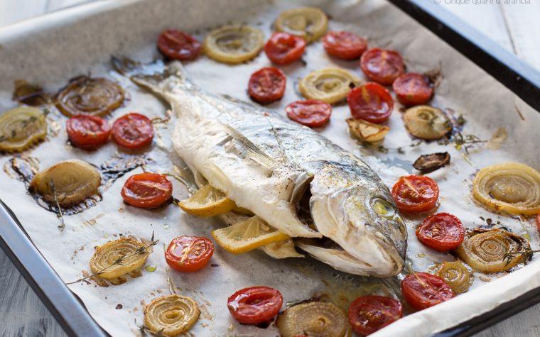Pesce arrosto alla mediterranea