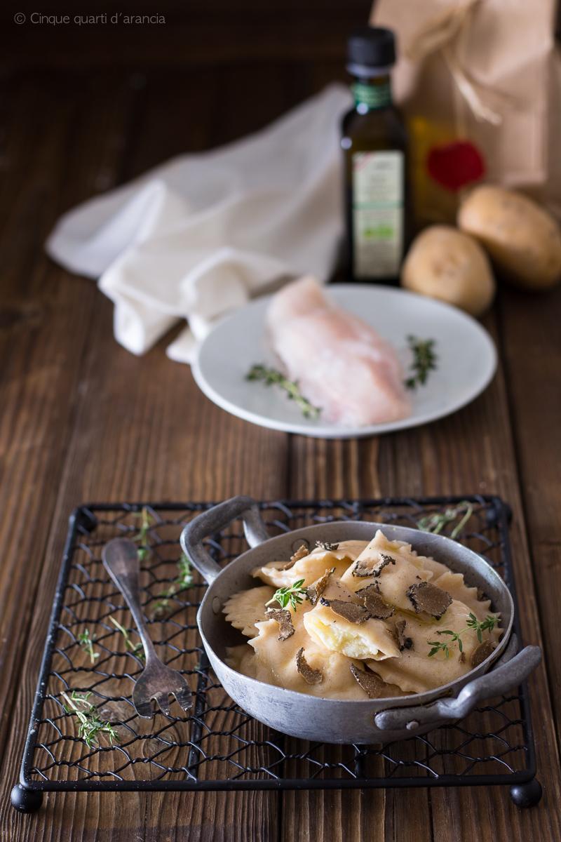 ravioli di gallinella e patate