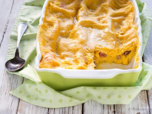 Lasagne zucca pancetta e scamorza