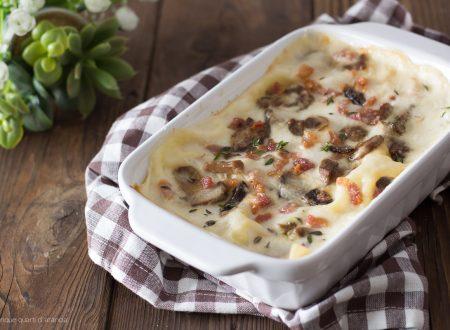 Lasagne funghi e pancetta