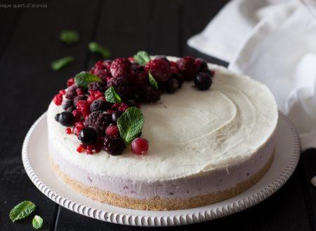 Cheesecake senza gelatina ai frutti di bosco