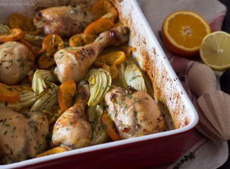 Pollo con finocchi e clementine di Yotam Ottolenghi