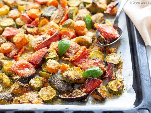 Verdure gratinate alla curcuma