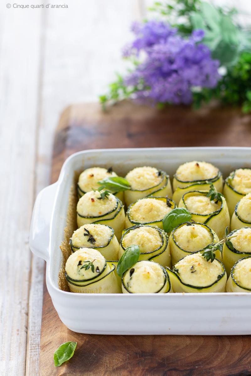 involtini zucchine e ricotta