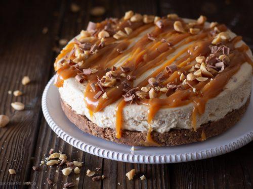 Cheesecake burro di arachidi e caramello salato