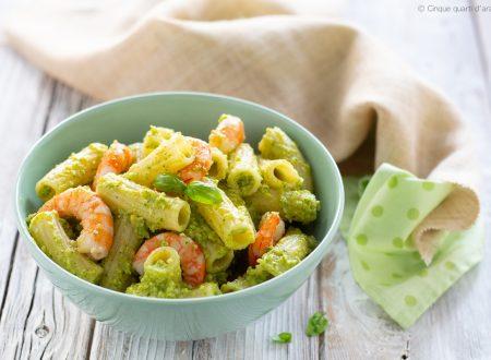 Pasta pesto di zucchine e gamberi