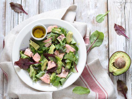 Insalata salmone e avocado
