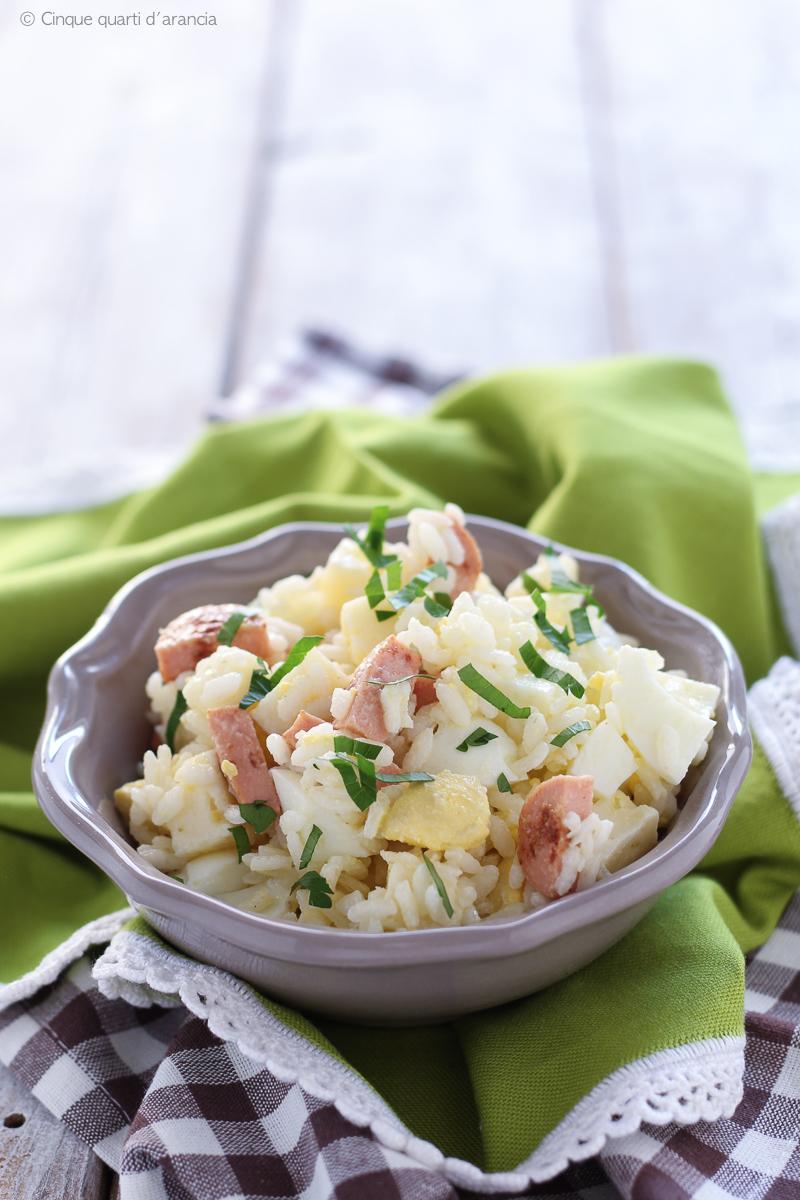 insalata di riso würstel