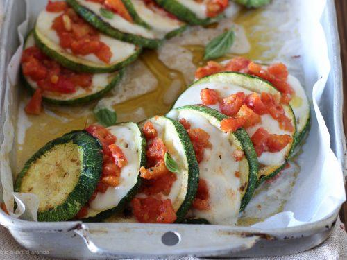 Ventagli di zucchine alla maggiorana