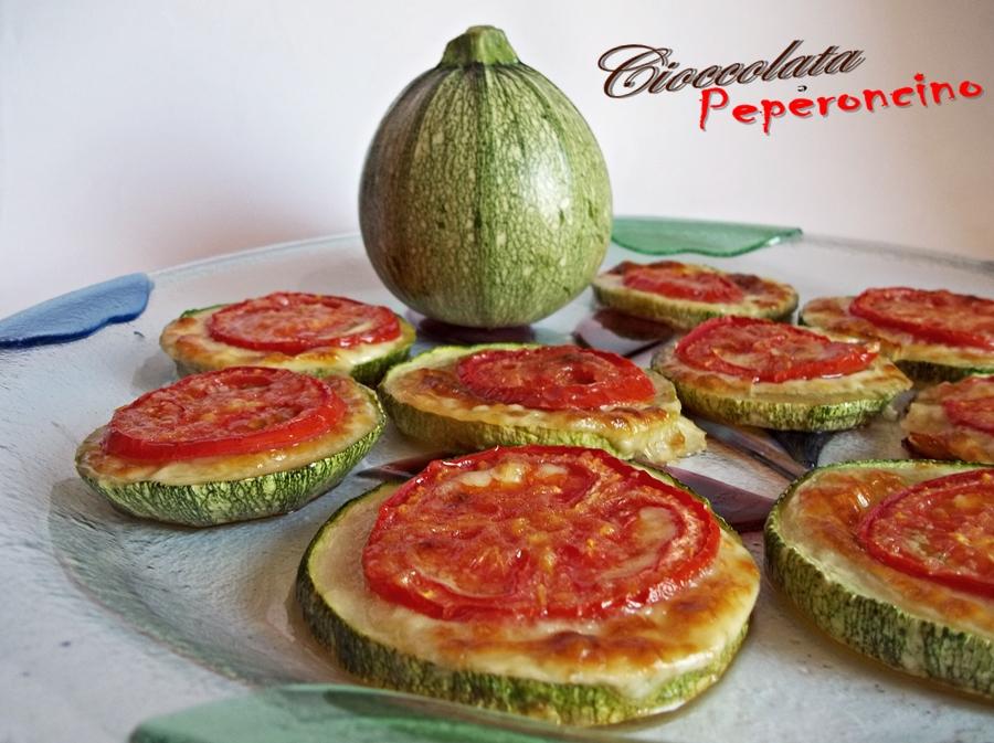 Pizzette di zucchine tonde