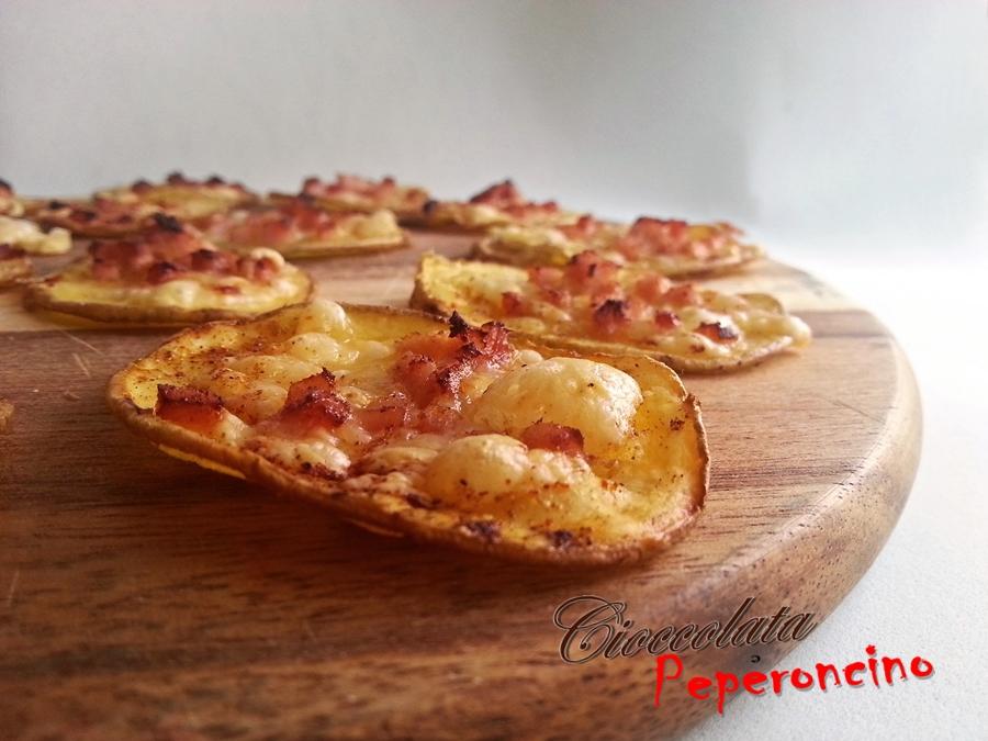Pizzette di patate croccanti   Cioccolata e Peperoncino