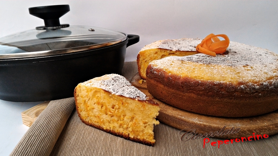 Torta carote e yogurt in padella