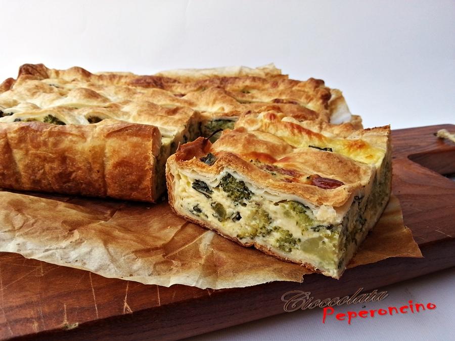 Torta rustica con broccolo