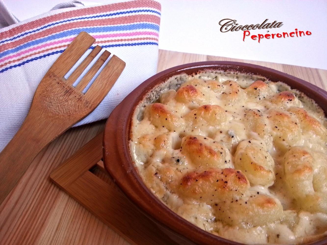 Gnocchi 4 formaggi al forno