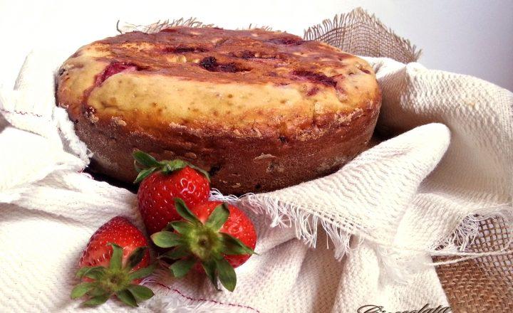 Torta di fragole in padella