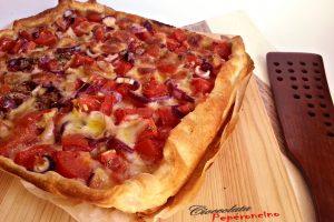 Rustico pomodori e cipolla rossa