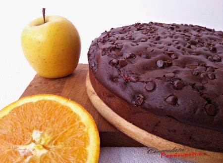 Torta di mele e arancia al cacao